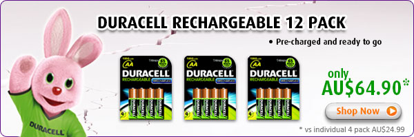 Duracell Rechargeable Batteries 12 Pack