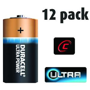 12 Pack of Duracell C Size Batteries