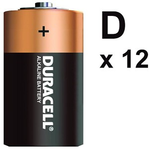 12 Pk of Duracell D Size  Batteries