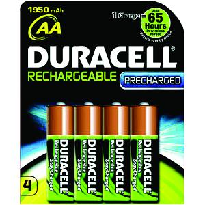 Duracell AA 4 Pack of Rechargeables
