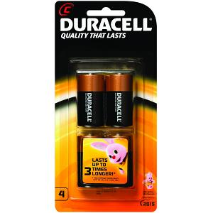 Duracell CopperTop C 4 Pack