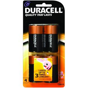 Duracell CopperTop D 4 Pack