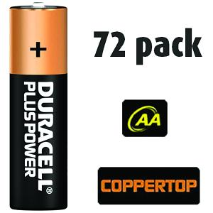 72 Pack of Duracell AA Batteries