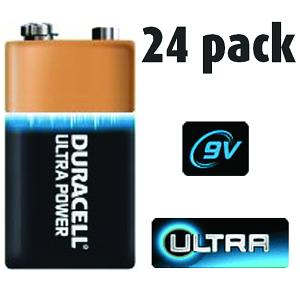 24 Pack of Duracell 9v Batteries
