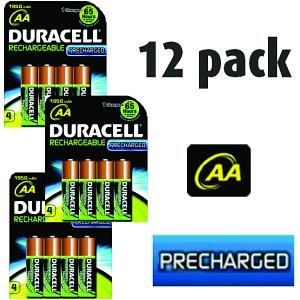 Duracell AA 12 Pack of Rechargeables