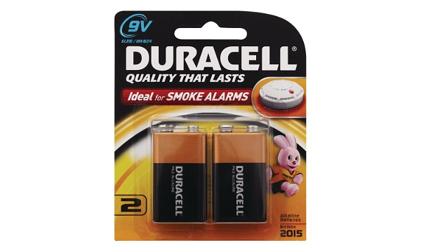 Duracell Coppertop 9V 2 Pack